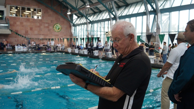 Vic Hecker Coach Of Las Vegas Masters Held First Cif For Women Socalswimhistory